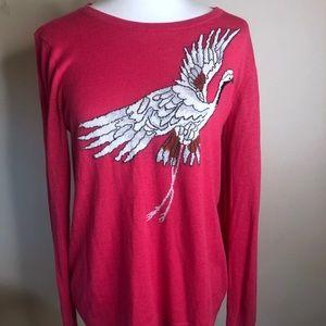 Loft long sleeve sweater pink Ann Taylor sweater